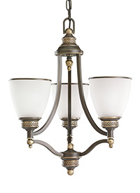 Three Light Chandelier