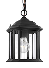 One Light Outdoor Semi-Flush Convertible Pendant
