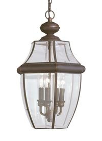 Three Light Outdoor Pendant