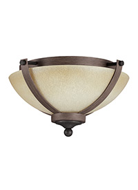 Two Light Ceiling Flush Mount