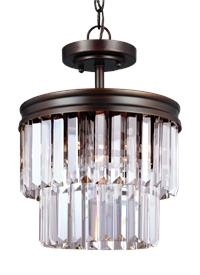 Two Light Semi-Flush Convertible Pendant