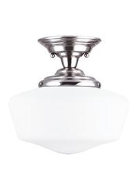 Large One Light Semi-Flush Mount