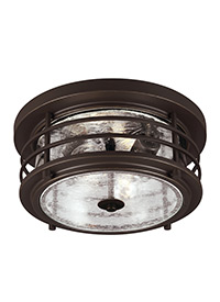 Two Light Outdoor Ceiling Flush Mount