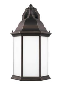Large One Light Downlight Outdoor Wall Lantern