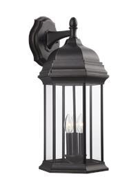 Extra Large Three Light Downlight Outdoor Wall Lantern
