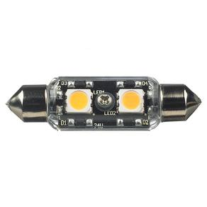 12V Frosted T3 Festoon 2700K LED Lamp
