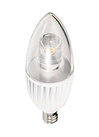 4.5w 120V Clear B10 Candelabra Base LED 3000K