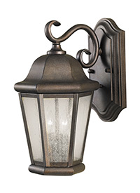 Medium Two Light Outdoor Wall Lantern