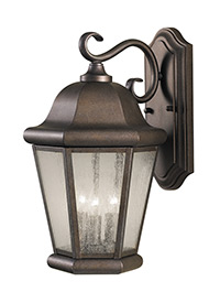Large Three Light Outdoor Wall Lantern