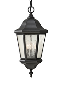 Three Light Outdoor Pendant Lantern