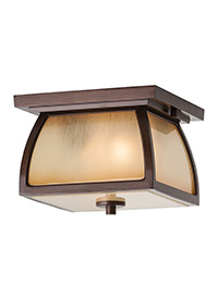 Two Light Outdoor Flush Mount