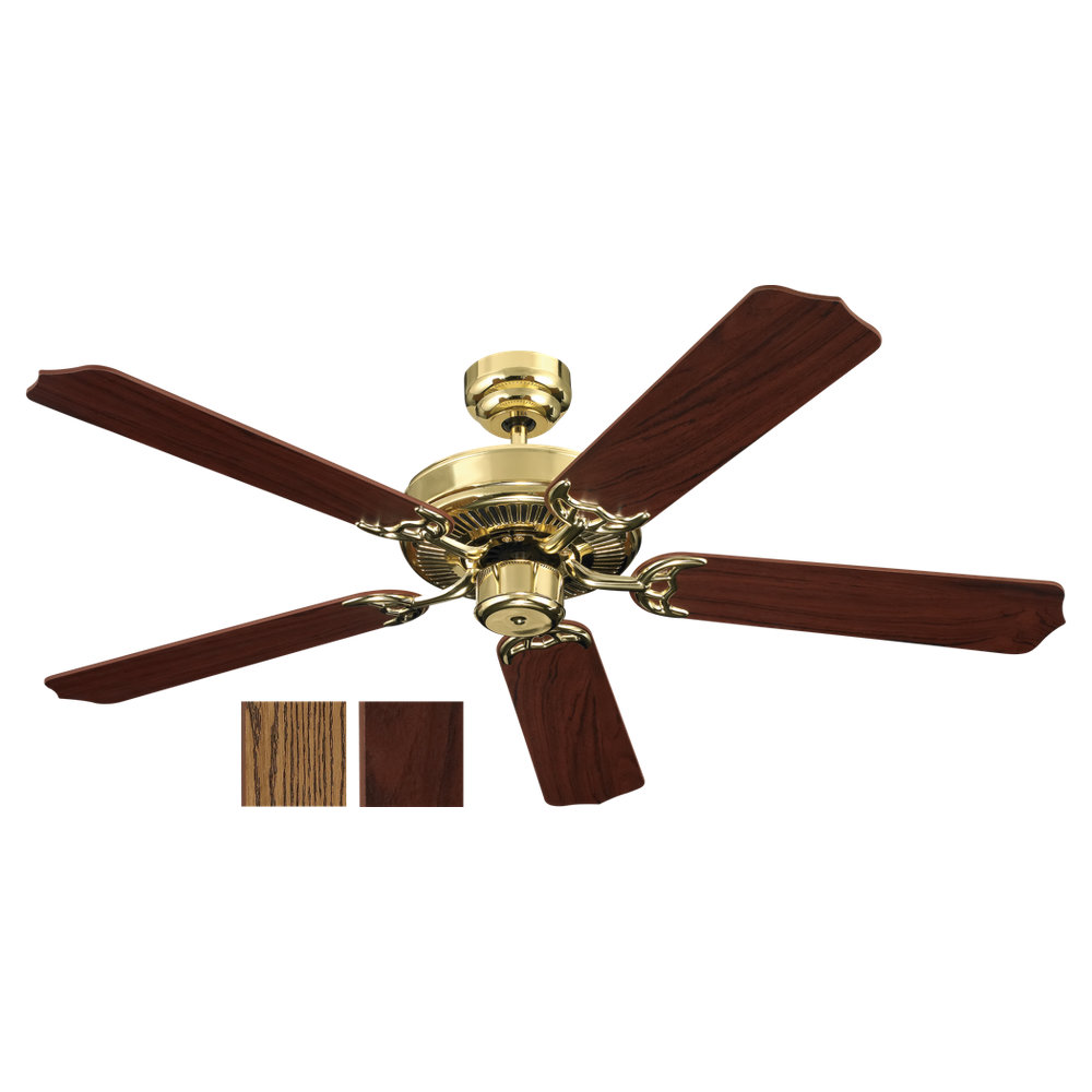 02 Quality Max Ceiling Fan Polished Brass