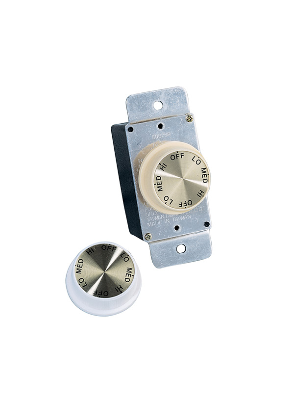 1601 15 Ceiling Fan Rotary Wall Control White
