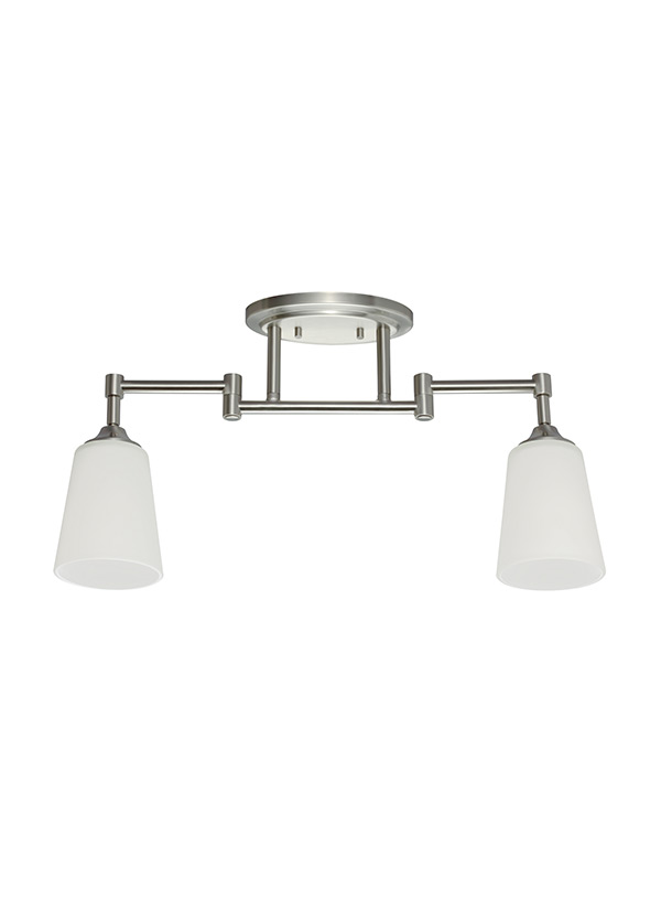 2530402 962two light track lighting kitbrushed nickel aloadofball