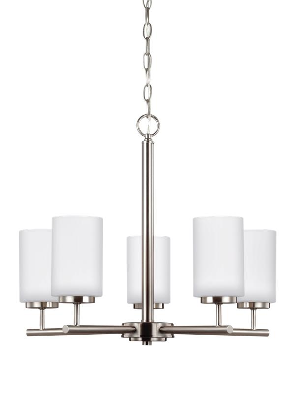 31161 962five light chandelierbrushed nickel aloadofball Image collections
