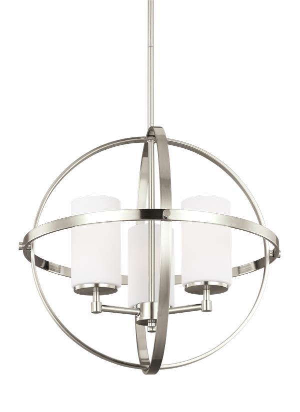 3124603en 962three light chandelierbrushed nickel aloadofball Images
