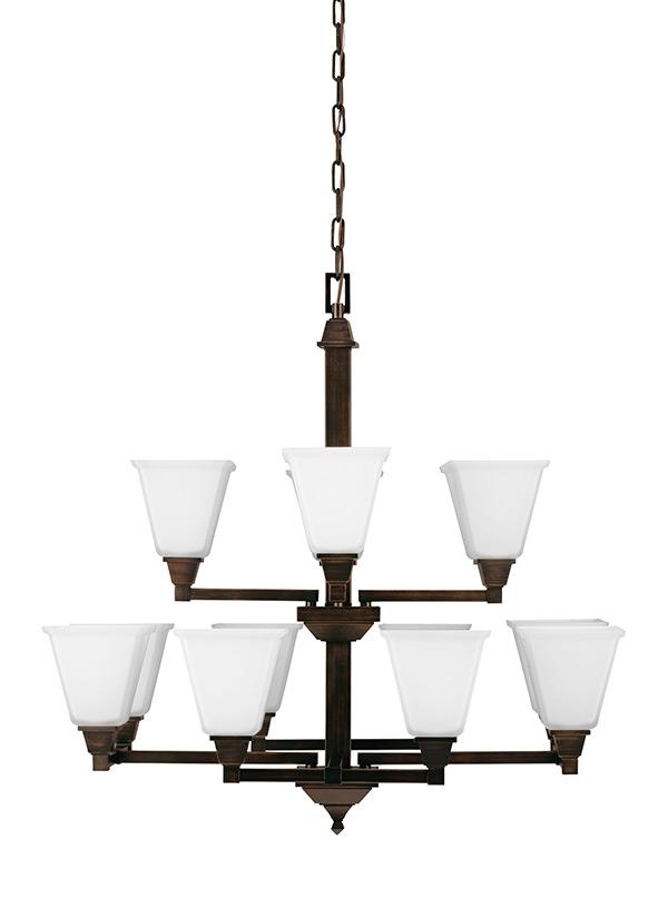 3150412 710 twelve light chandelier burnt sienna