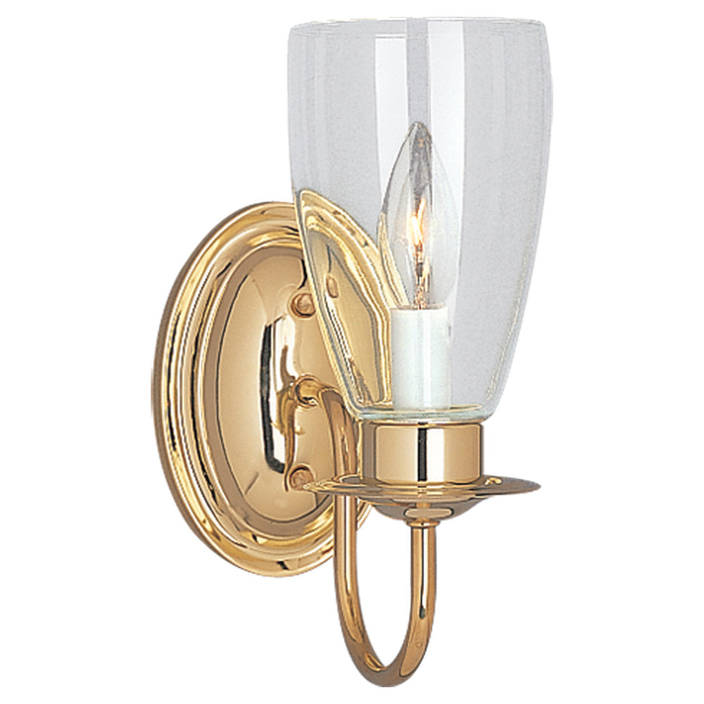 4167 02one light wall sconcepolished brass