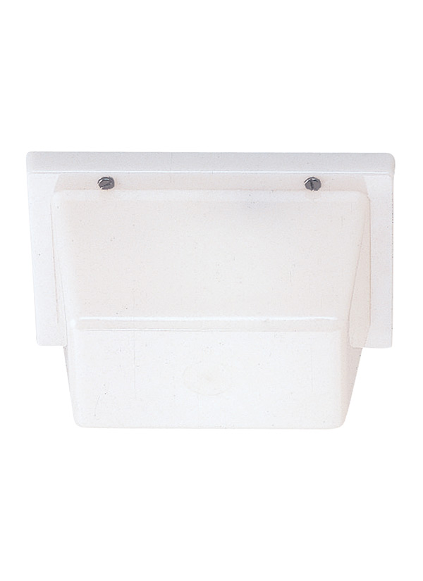 White Outdoor Lights Magnificent 6060One Light Outdoor Wall Ceiling MountWhite Plastic