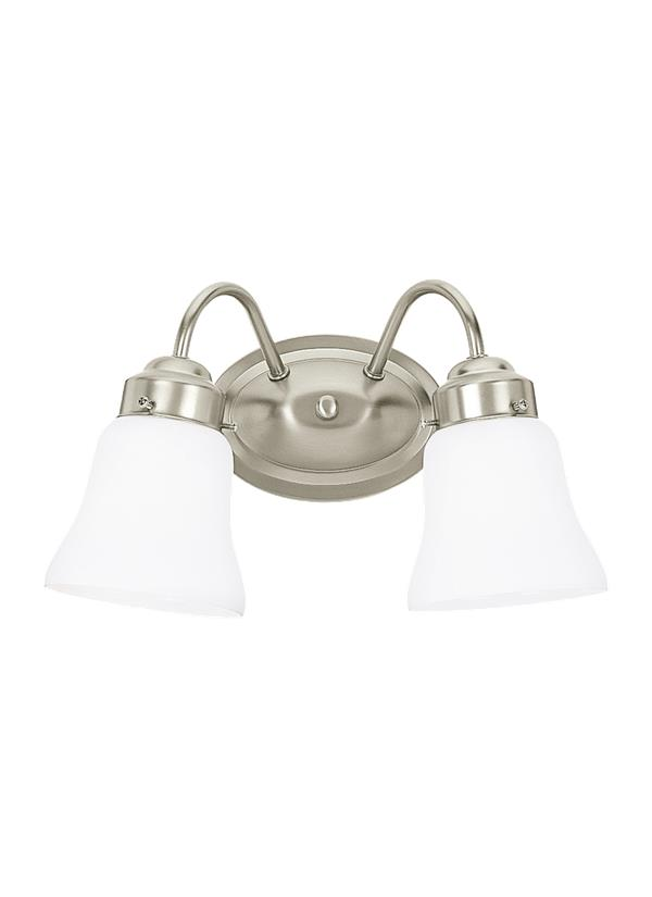 44019-962,Two Light Wall / Bath,Brushed Nickel