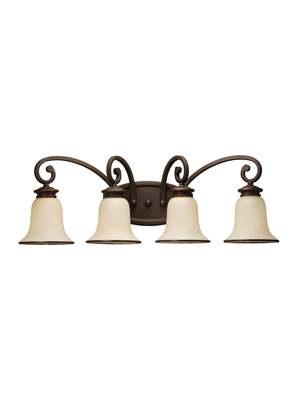 44147 814 four light wall bath misted bronze
