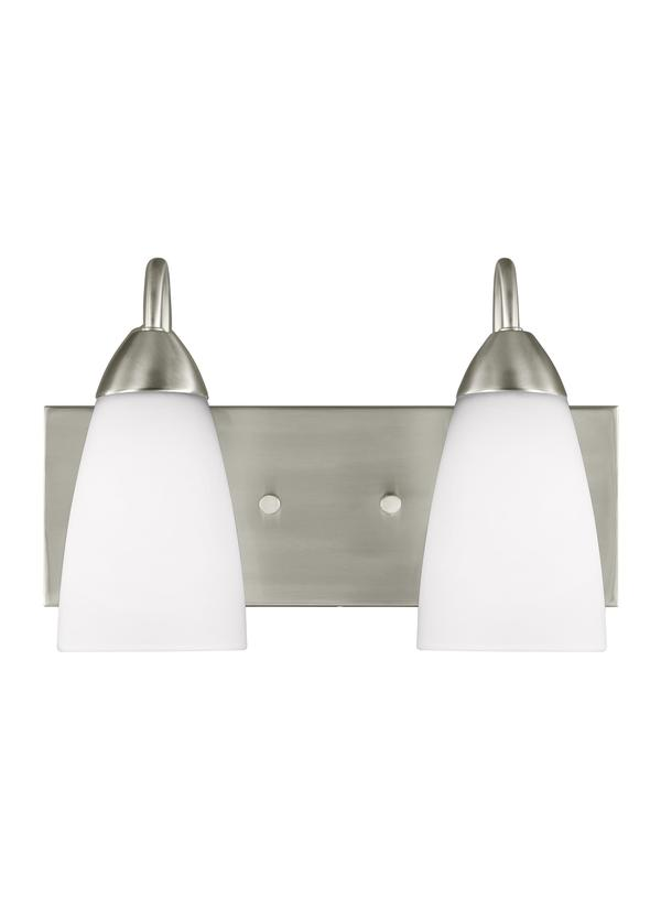 4420202 962 Two Light Wall Bath Brushed Nickel