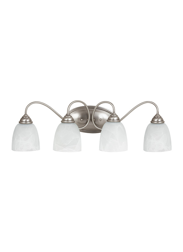 Four Light Wall BathAntique Brushed Nickel - Savoy bathroom light fixtures
