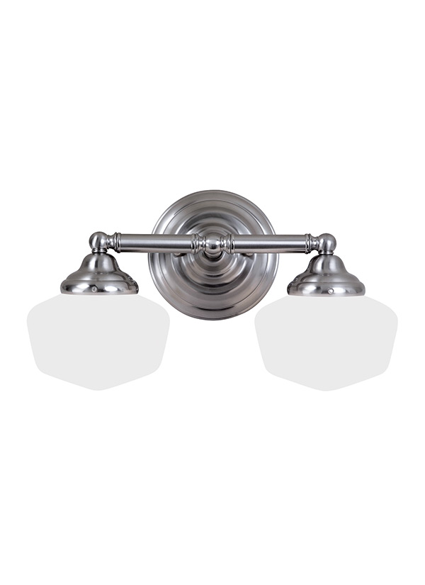 44437 962 two light wall bath brushed nickel