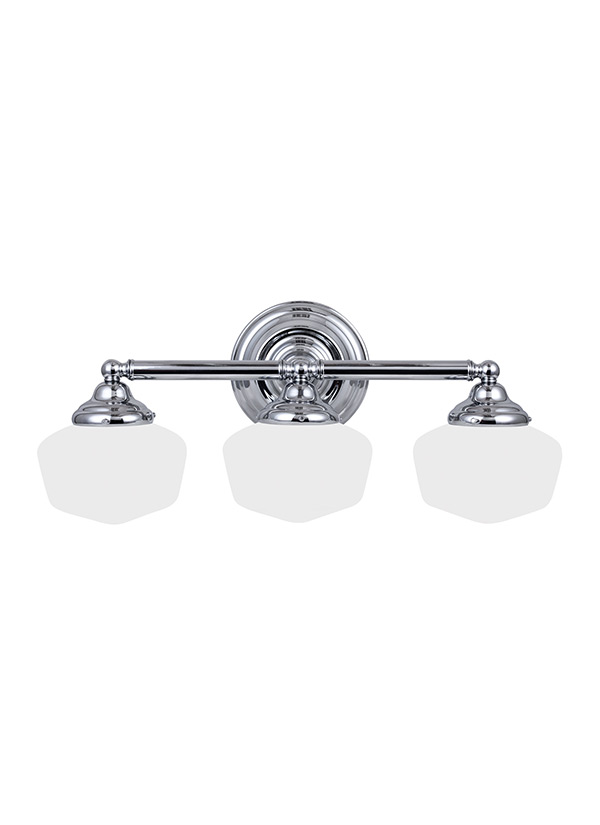 Three Light Wall BathChrome - Three light bathroom fixture