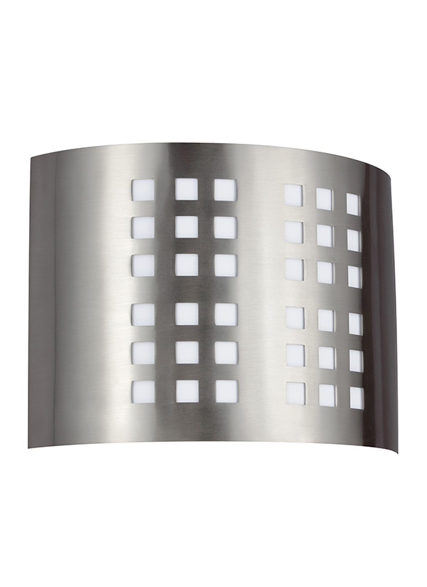 BLEOne Light Wall Bath SconceBrushed Nickel - 2 light bathroom wall sconce