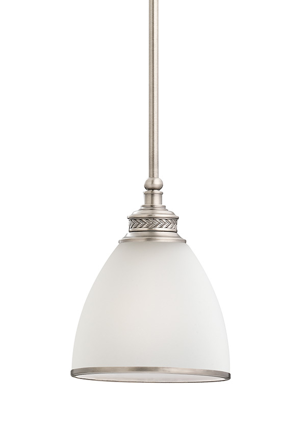 61350 965one light mini pendantantique brushed nickel aloadofball Image collections