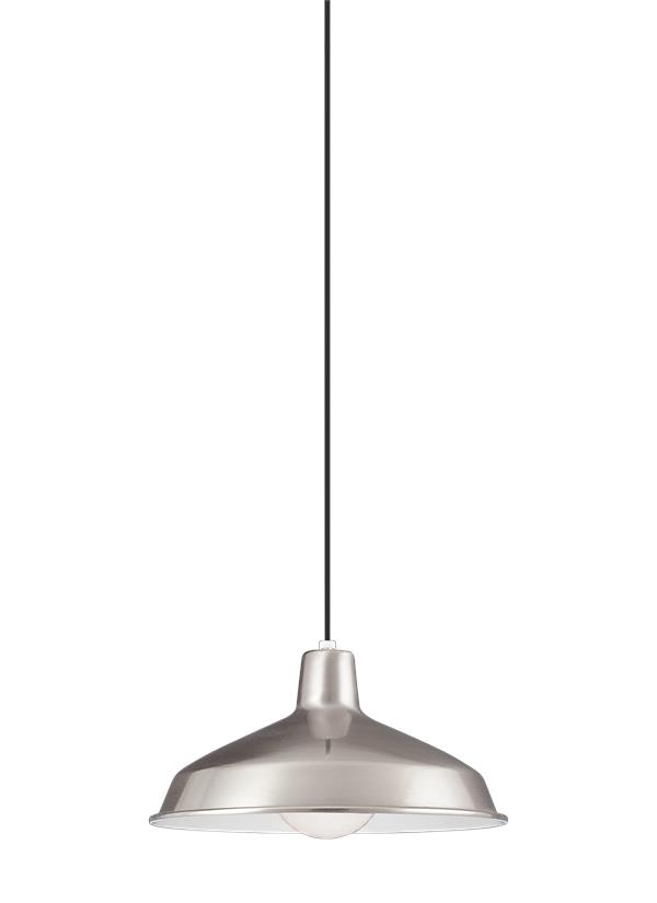 One Light PendantBrushed Stainless - Brushed steel kitchen ceiling lights