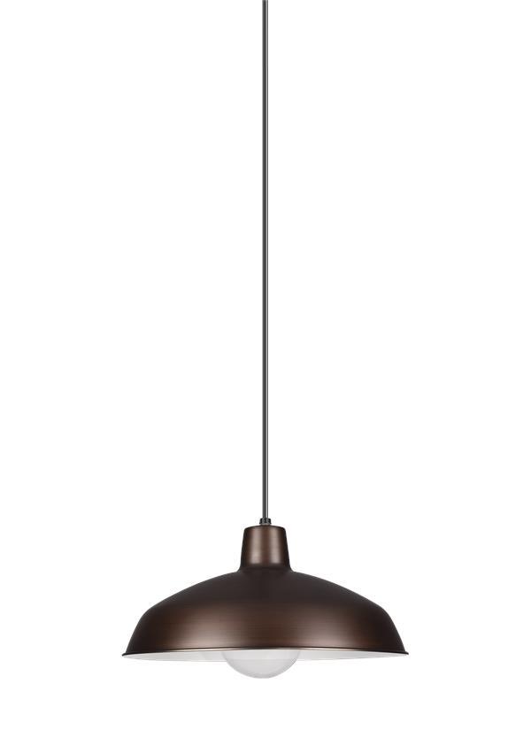 6519EN3 63One Light PendantAntique Brushed Copper