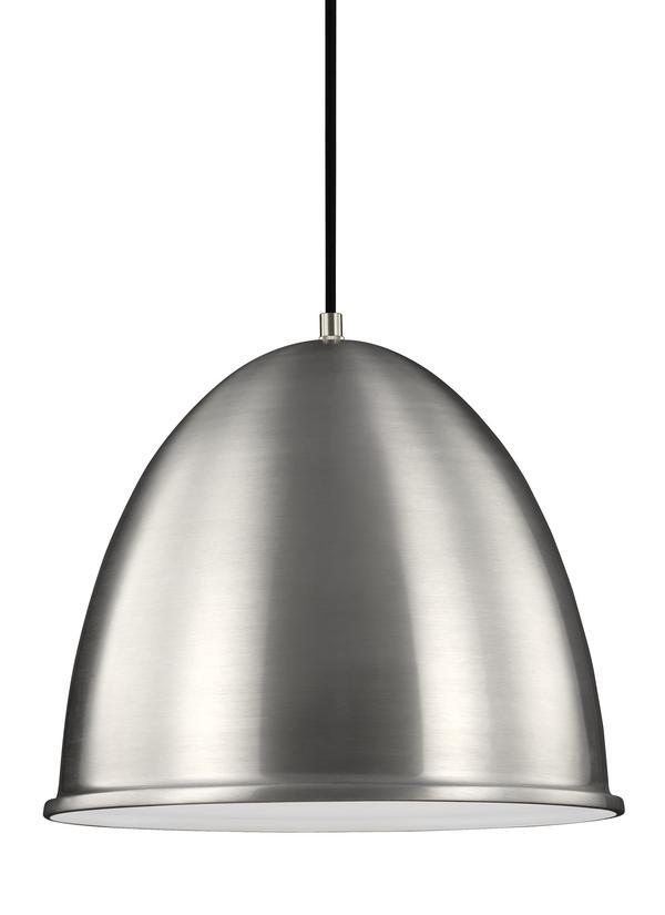 6525401 04 one light pendant satin aluminum