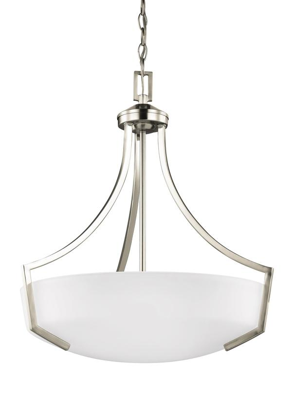 Three Light PendantBrushed Nickel - Set of three pendant lights