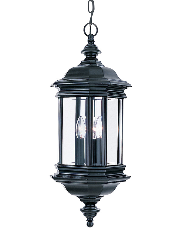 6637 12Three Light Outdoor PendantBlack