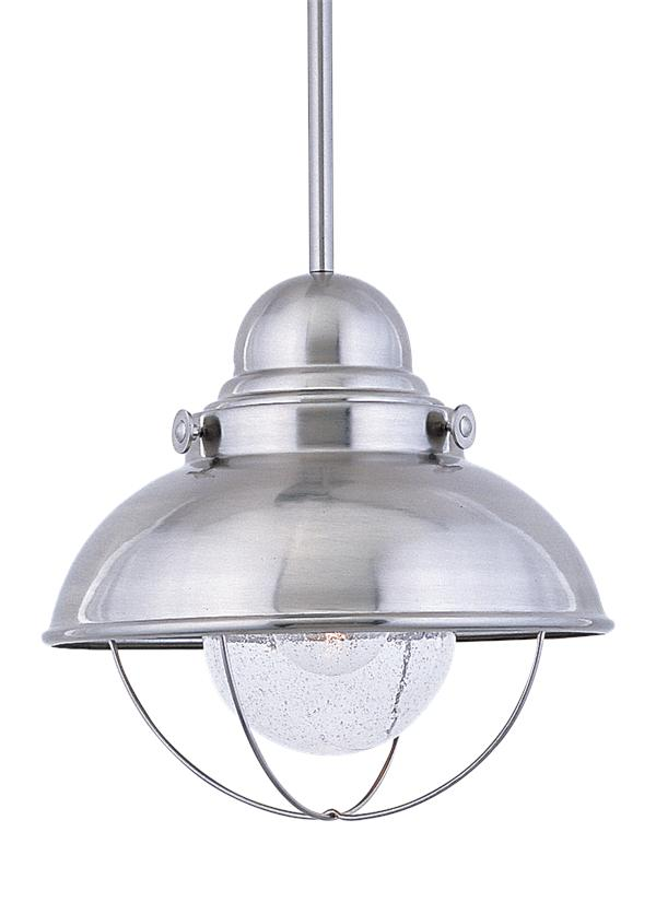 6658 98 One Light Outdoor Pendant Brushed Stainless