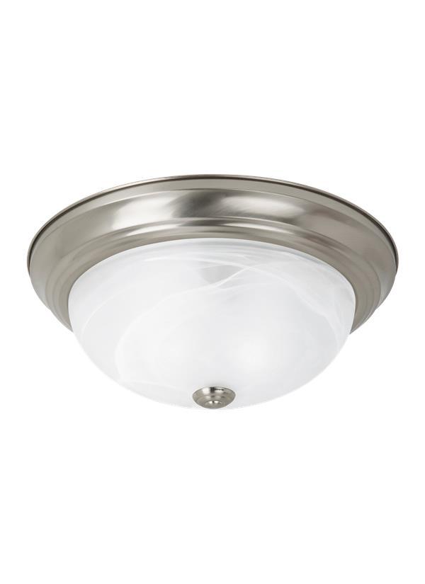 75942 962 Two Light Ceiling Flush Mount Brushed Nickel