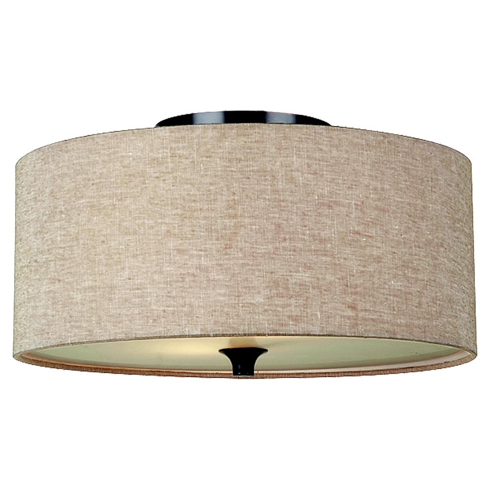 75952790Two Light Ceiling Flush Mount Oil Rubbed Bronze