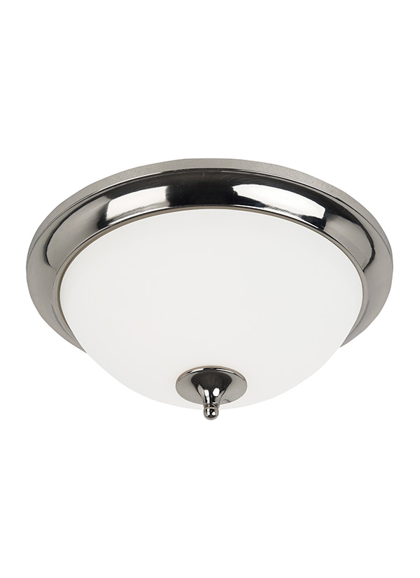 Two Light Ceiling Flush MountPolished Nickel - Flush mount bathroom exhaust fan