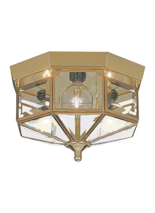 7661 02three light ceiling flush mountpolished brass mozeypictures Images