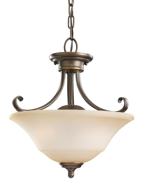 77380 829two light semi flush convertible pendant russet bronze aloadofball Gallery