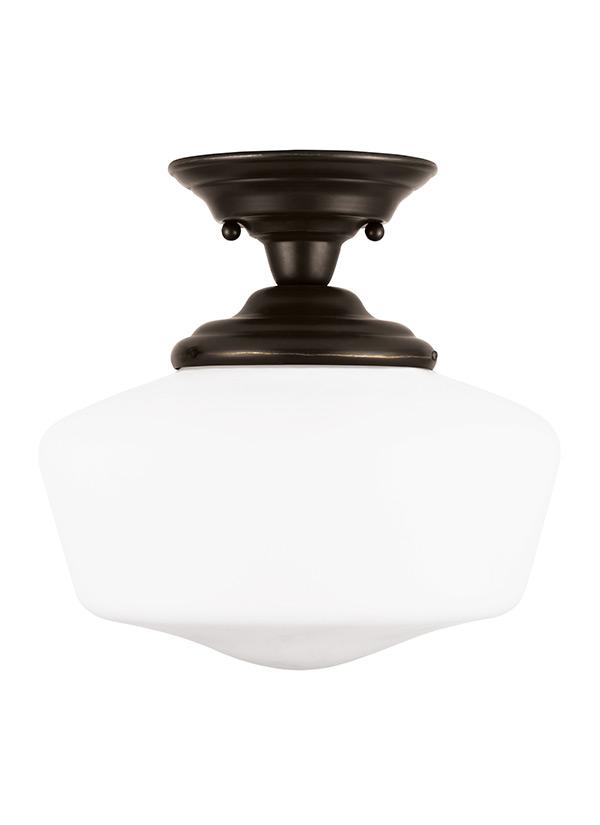 77436 782 One Light Semi Flush Mount Heirloom Bronze