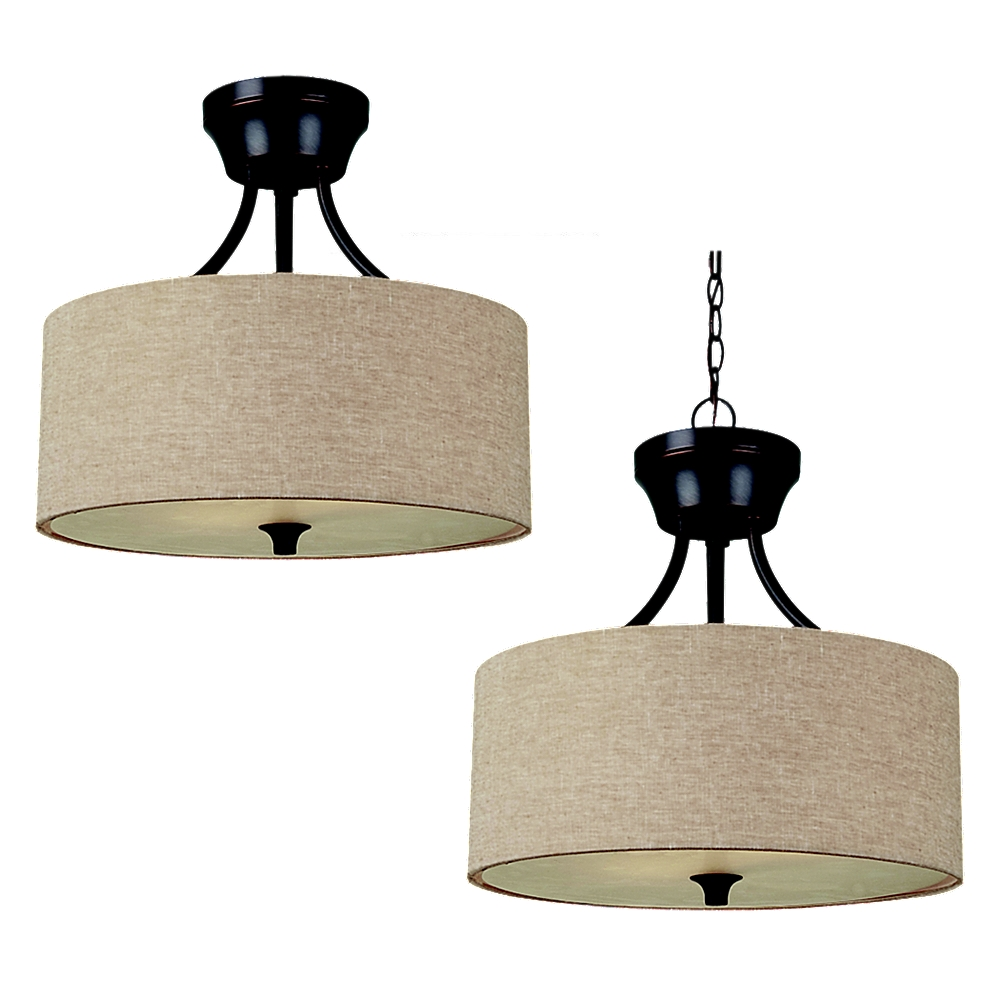77952-790,two light semi-flush / pendant,oil rubbed bronze
