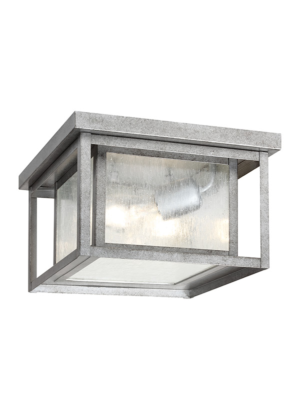 78027 57two light outdoor ceiling flush mountweathered pewter aloadofball Images