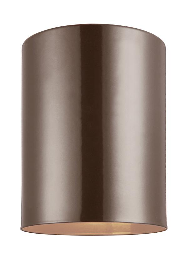 7813801 10 one light outdoor ceiling flush mount bronze