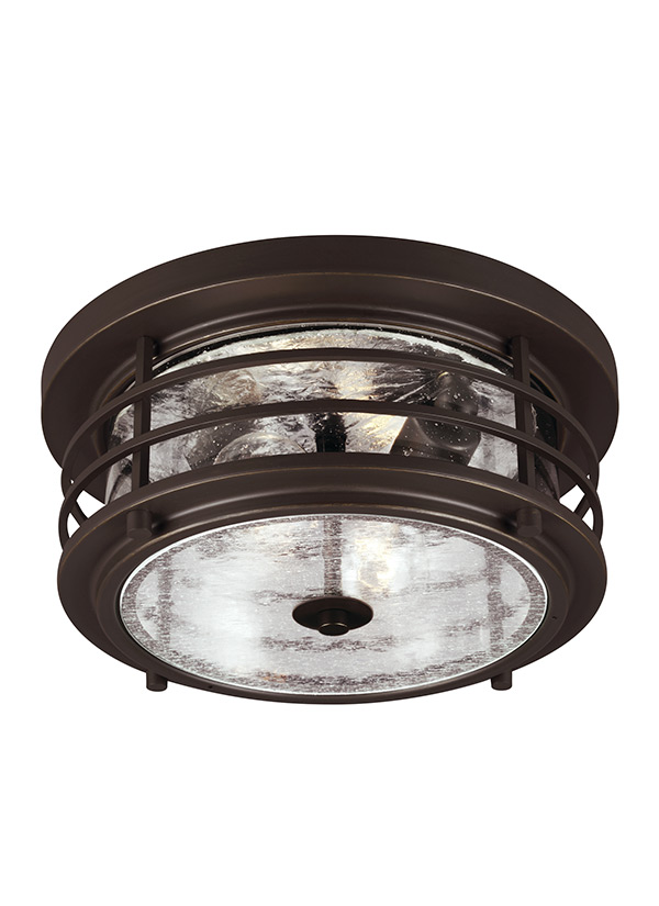 7824402 71two light outdoor ceiling flush mountantique bronze aloadofball Image collections