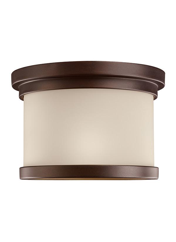 78660 814 One Light Outdoor Ceiling Flush Mount Misted Bronze