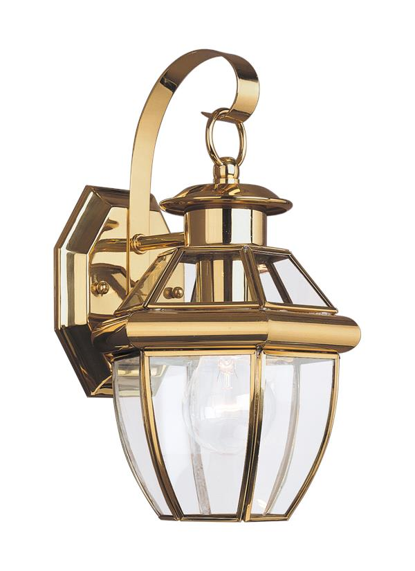 Brass Outdoor Lighting Fixtures 8037 02one light outdoor wall lanternpolished brass workwithnaturefo