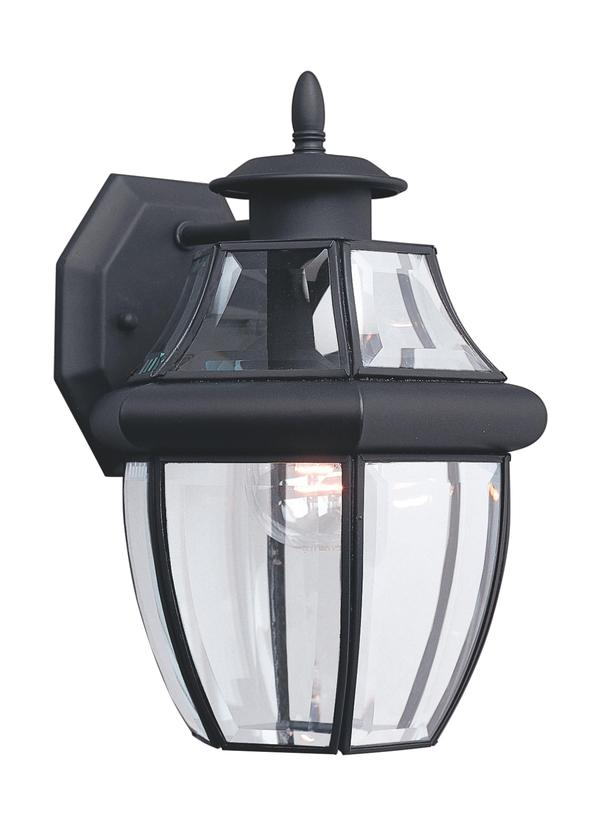 8038-12,One Light Outdoor Wall Lantern,Black